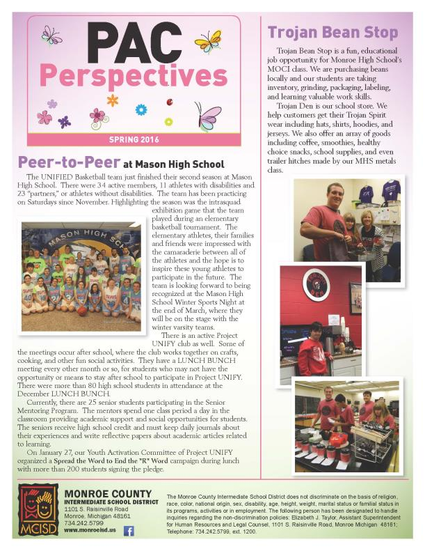 PAC Newsletter spring 2016